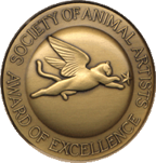 Aaron Yount Award of Excellence SAA Society of Animal Artists
